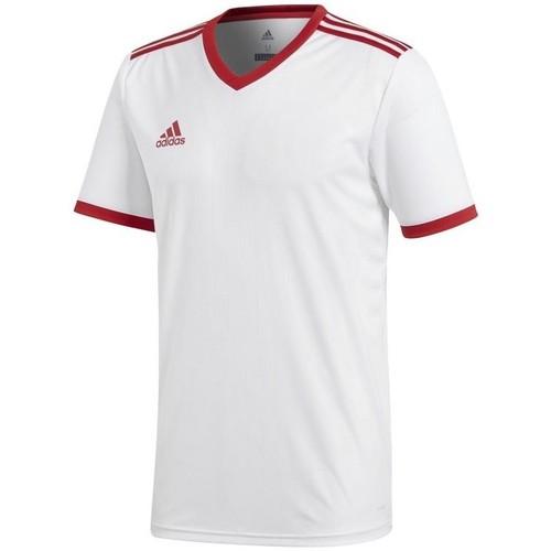 vaatteet Miehet Lyhythihainen t-paita adidas Originals Tabela 18 Climalite Valkoiset
