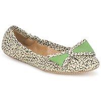 kengät Naiset Balleriinat Maloles BLANCHE Black / White / Green