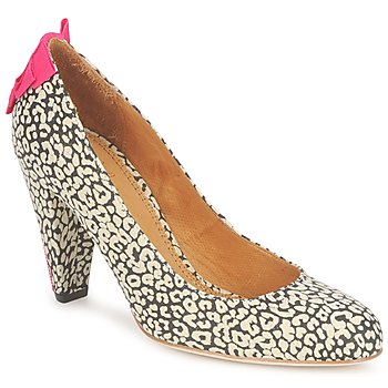kengät Naiset Korkokengät Maloles CHRISTIA Black / White / Pink
