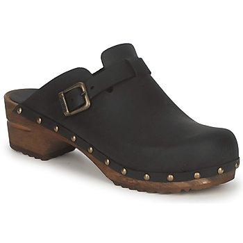 kengät Naiset Puukengät Sanita KRISTEL OPEN Musta