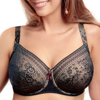 Alusvaatteet Naiset Kaarituetut rintaliivit Rosa Faia 5653-001 Musta