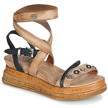 kengät Naiset Sandaalit ja avokkaat Airstep / A.S.98 LAGOS Beige / Musta