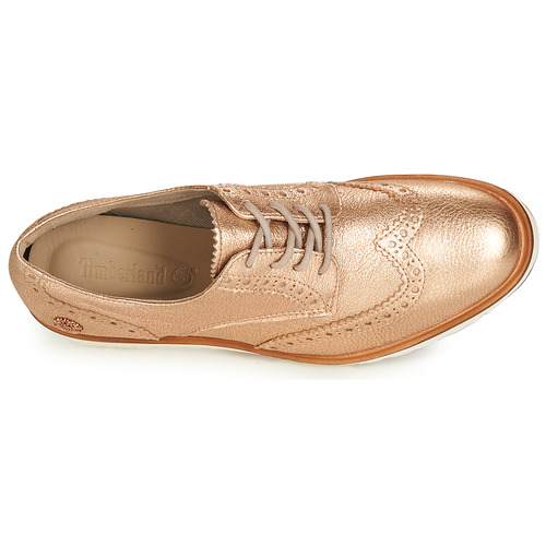 Timberland Ellis Street Oxford Pink / Kulta - Ilmainen Toimitus- Kengät Derby-kengät Naiset 100