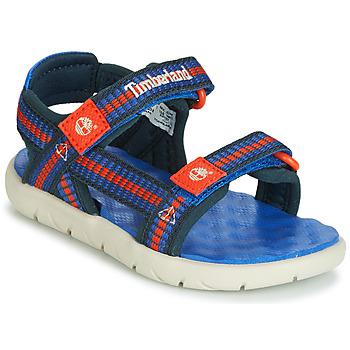 kengät Lapset Sandaalit ja avokkaat Timberland PERKINS ROW WEBBING SNDL Blue