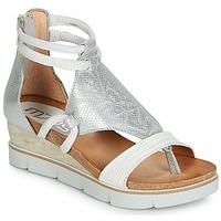 kengät Naiset Sandaalit ja avokkaat Mjus TAPASITA White / Hopea