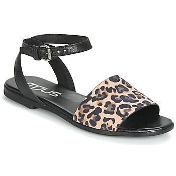 kengät Naiset Sandaalit ja avokkaat Mjus CHAT LEO Black / Leopardi