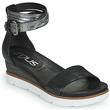 kengät Naiset Sandaalit ja avokkaat Mjus TAPASITA Black / Hopea