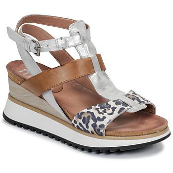 kengät Naiset Sandaalit ja avokkaat Mjus TARDE Camel / Beige / marine