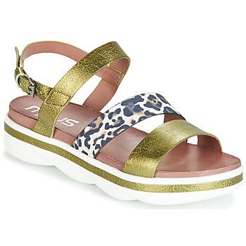 kengät Naiset Sandaalit ja avokkaat Mjus TALISMAN Green / Beige / marine