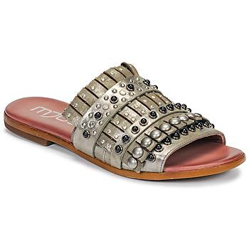 kengät Naiset Sandaalit Mjus CHAT MULE Kaki / Metallinen