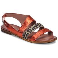 kengät Naiset Sandaalit ja avokkaat Mjus CHAT BUCKLE Punainen / Leopardi