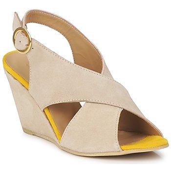 kengät Naiset Sandaalit ja avokkaat Pieces OTTINE SHOP SANDAL Taupe