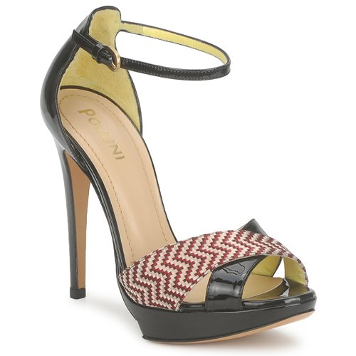 kengät Naiset Sandaalit ja avokkaat Pollini PA1638CC1V Ruskea / kermanvärinen