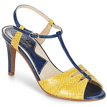 kengät Naiset Sandaalit ja avokkaat Ippon Vintage DROP BACK Laivastonsininen / Keltainen
