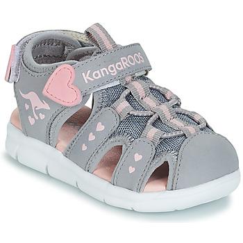 kengät Tytöt Sandaalit ja avokkaat Kangaroos K-MINI Grey / Pink