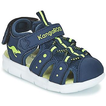 kengät Lapset Sandaalit ja avokkaat Kangaroos K-MINI Laivastonsininen / Yellow