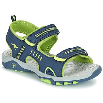 kengät Pojat Sandaalit ja avokkaat Kangaroos K-LOGAN Laivastonsininen / Green