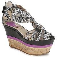 kengät Naiset Sandaalit ja avokkaat Etro 3467 Grey / Black / Violet