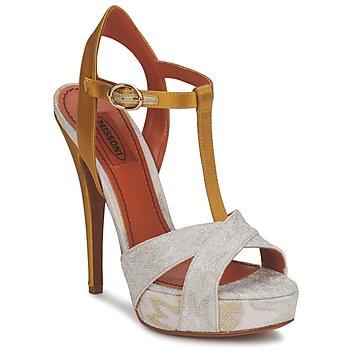 kengät Naiset Sandaalit ja avokkaat Missoni TM30 Kulta / Hopea