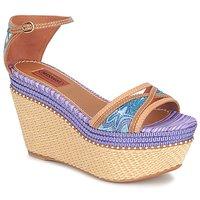 kengät Naiset Sandaalit ja avokkaat Missoni TM26 Blue / Brown