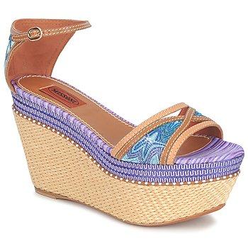 kengät Naiset Sandaalit ja avokkaat Missoni TM26 Sininen / Ruskea