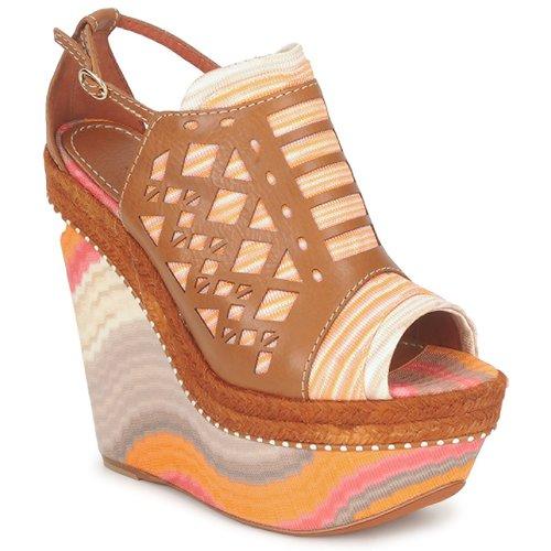 kengät Naiset Sandaalit ja avokkaat Missoni TM22 Brown / Orange
