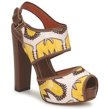 kengät Naiset Sandaalit ja avokkaat Missoni TM81 Ruskea / Beige / Keltainen