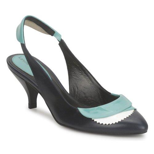 kengät Naiset Sandaalit ja avokkaat Karine Arabian LILA Encre / White / Turkoosi