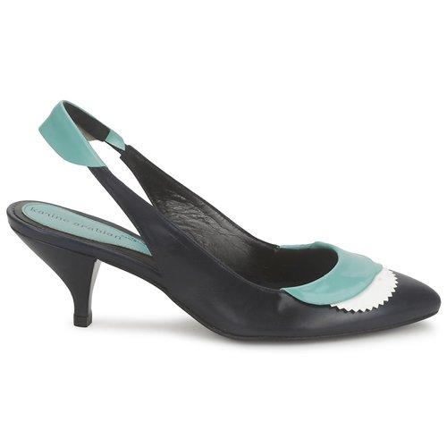 Karine Arabian Lila Encre / White Turkoosi - Ilmainen Toimitus- Kengät Sandaalit Naiset 239