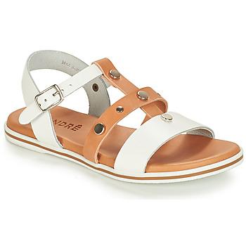 kengät Pojat Sandaalit ja avokkaat André MILAN White / Camel