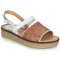kengät Naiset Sandaalit ja avokkaat Kickers VICTORIETTE Brown / White
