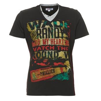 vaatteet Miehet Lyhythihainen t-paita Yurban CLIFF Black