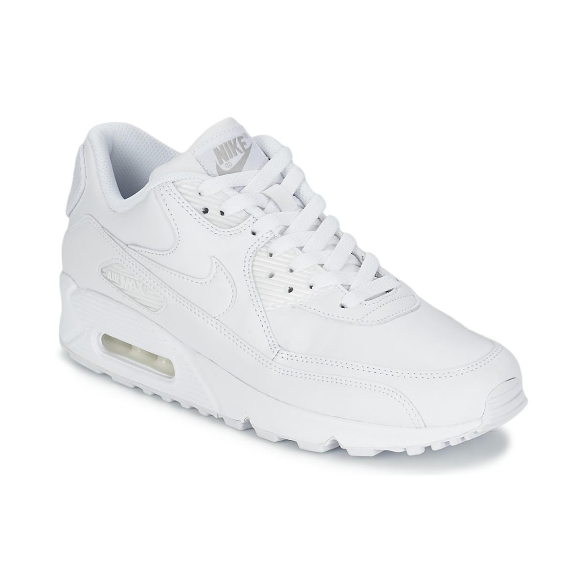sports shoes c3470 3e9f7 Nike AIR MAX 90 White - Ilmainen toimitus osoitteessa Spartoo.fi! ! - kengät  Matalavartiset tennarit Miehet 144,00 €