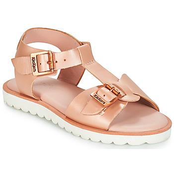 kengät Tytöt Sandaalit ja avokkaat Kickers ISABELA Pink / Metallinen