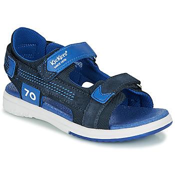 kengät Pojat Sandaalit ja avokkaat Kickers PLANE Laivastonsininen