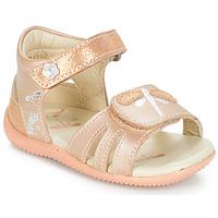 kengät Tytöt Sandaalit ja avokkaat Kickers BESHINE Pink / Metallinen