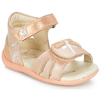 timeless design 63ef6 2bfdf kengät Tytöt Sandaalit ja avokkaat Kickers BESHINE Pink   Metallinen