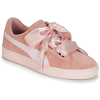 kengät Tytöt Matalavartiset tennarit Puma JR SUEDE HEART JEWEL.PEACH Pink