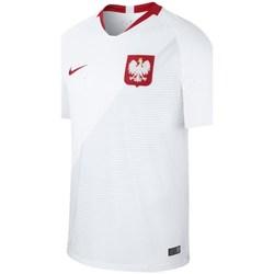vaatteet Miehet Lyhythihainen t-paita Nike Breathe Stadium Home Valkoiset
