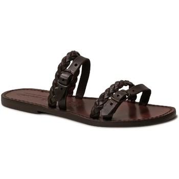 kengät Naiset Sandaalit Gianluca - L'artigiano Del Cuoio 575 D MORO CUOIO Testa di Moro