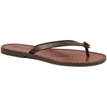 kengät Naiset Varvassandaalit Gianluca - L'artigiano Del Cuoio 540 D MORO CUOIO Testa di Moro