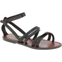 kengät Naiset Sandaalit ja avokkaat Gianluca - L'artigiano Del Cuoio 581 D MORO CUOIO Testa di Moro