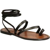 kengät Naiset Sandaalit ja avokkaat Gianluca - L'artigiano Del Cuoio 513 D MORO CUOIO Testa di Moro
