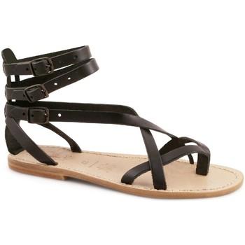 kengät Naiset Sandaalit ja avokkaat Gianluca - L'artigiano Del Cuoio 564 D NERO LGT-CUOIO nero