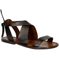 kengät Naiset Sandaalit ja avokkaat Gianluca - L'artigiano Del Cuoio 570 D MORO CUOIO Testa di Moro
