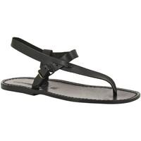 kengät Miehet Sandaalit ja avokkaat Gianluca - L'artigiano Del Cuoio 592 U NERO CUOIO nero