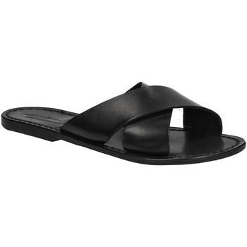kengät Naiset Sandaalit Gianluca - L'artigiano Del Cuoio 560 D NERO CUOIO nero