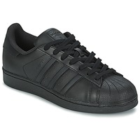 kengät Miehet Matalavartiset tennarit adidas Originals SUPERSTAR FOUNDATION Black