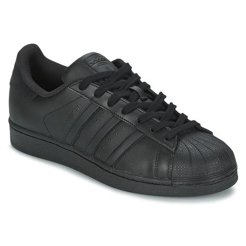 kengät Miehet Matalavartiset tennarit adidas Originals SUPERSTAR FOUNDATION Black