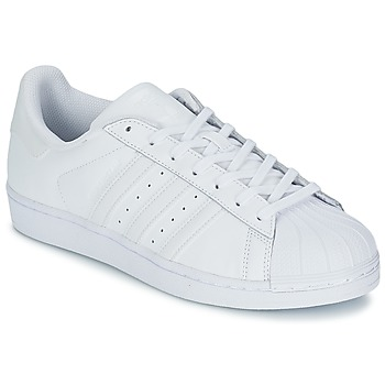kengät Miehet Matalavartiset tennarit adidas Originals SUPERSTAR FOUNDATION White